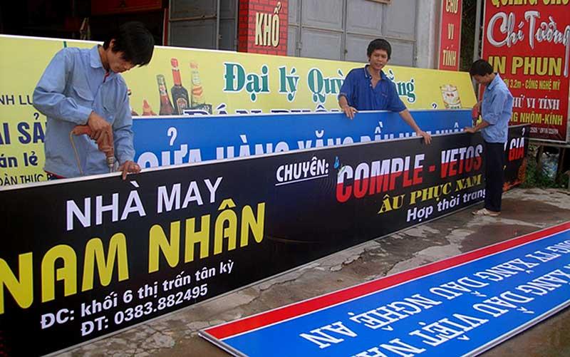 làm biển quảng cáo ở Hà Nội