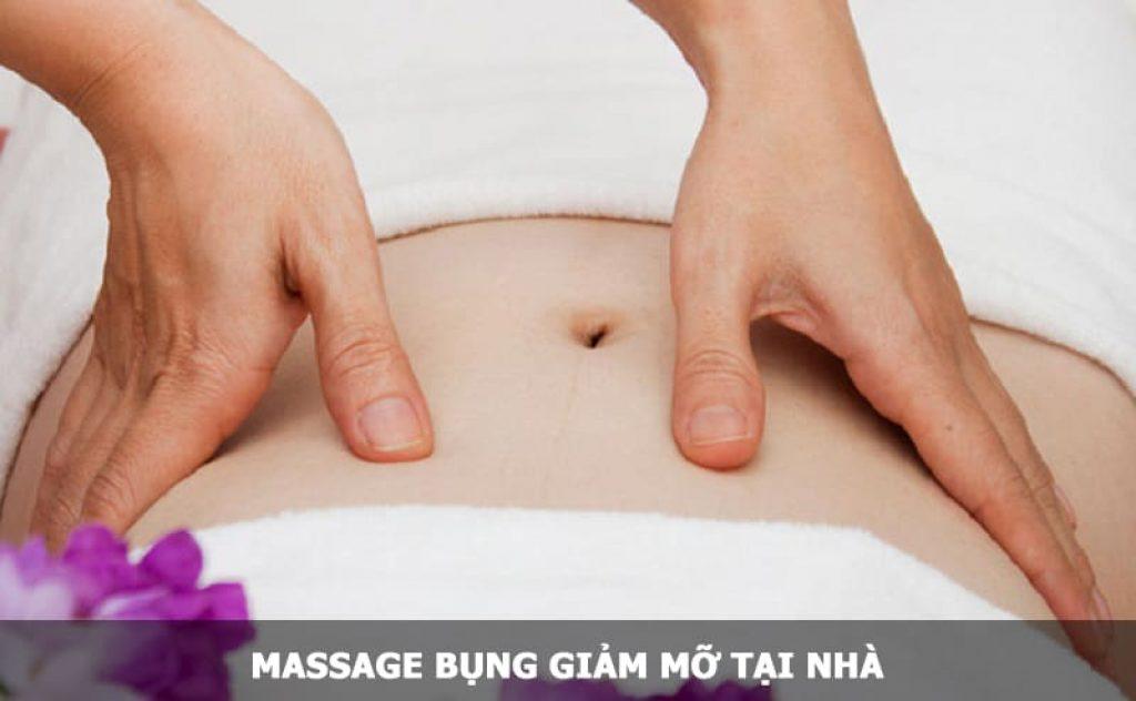 Massage bụng giảm mỡ tại nhà