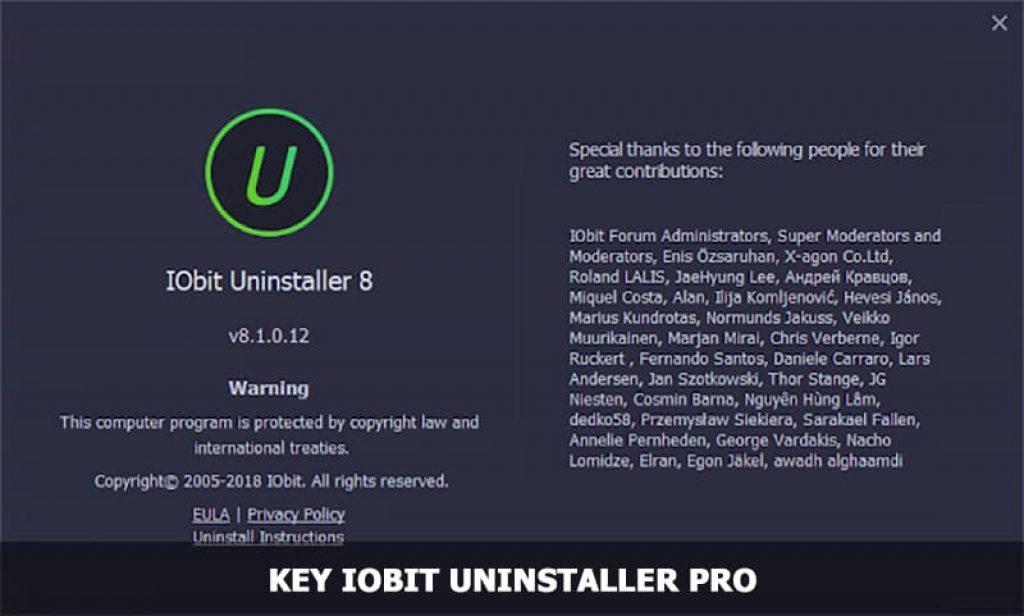 Key Iobit Uninstaller Pro