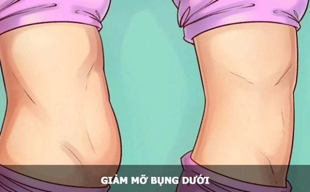 giảm mỡ bụng dưới