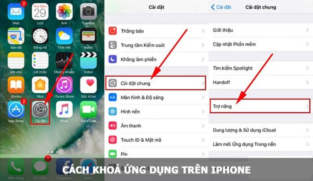 khoá ứng dụng trên iPhone