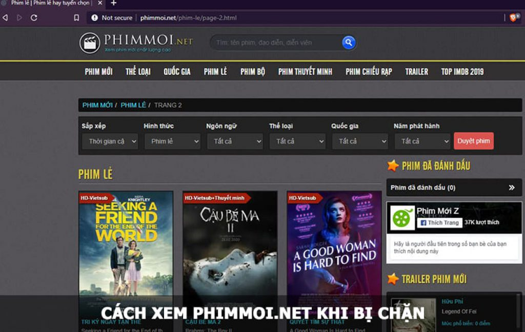 phimmoi.net khi bị chặn