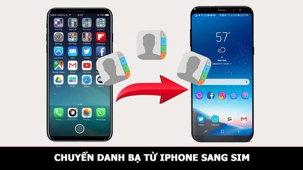 chuyển danh bạ từ iPhone sang sim