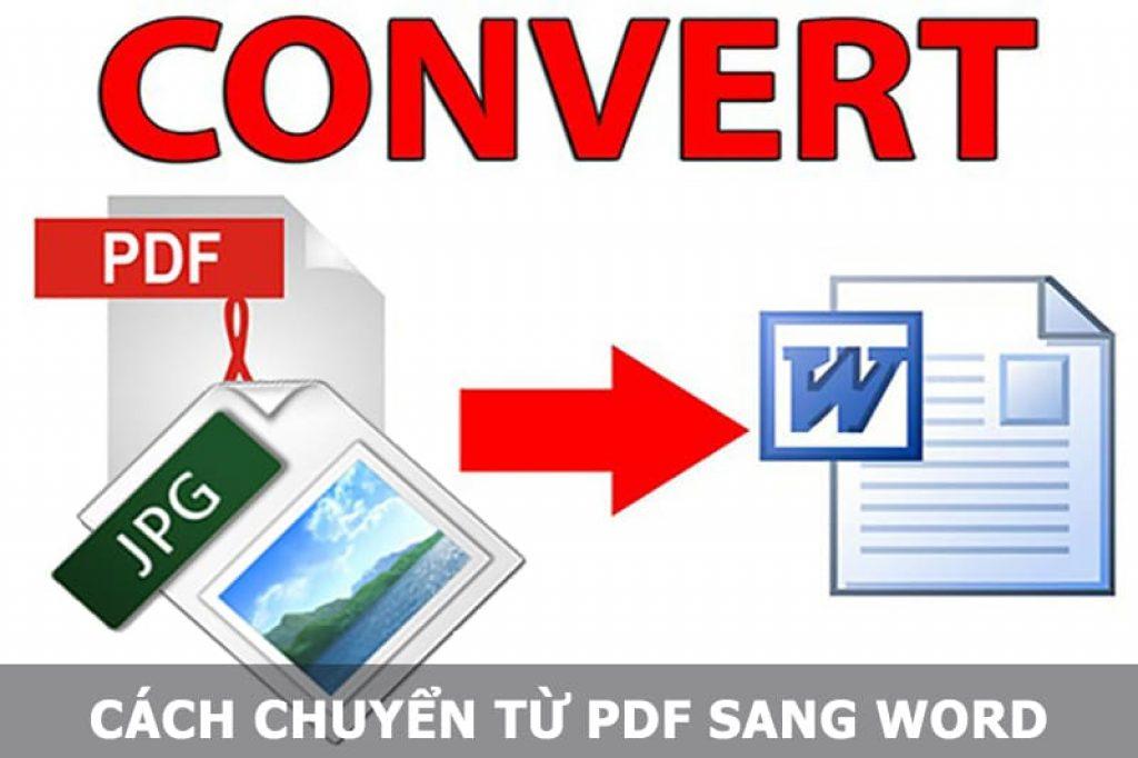 Cách chuyển từ PDF sang Word