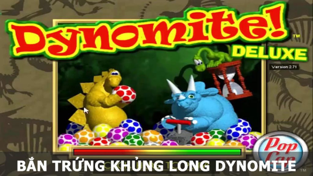 bắn trứng khủng long Dynomite