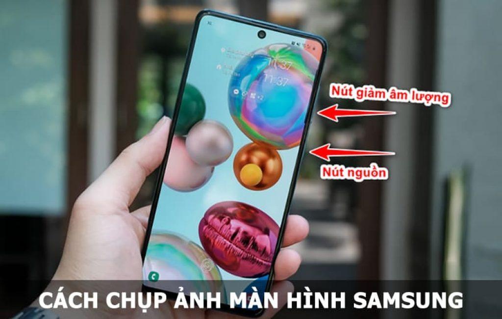 chụp ảnh màn hình Samsung
