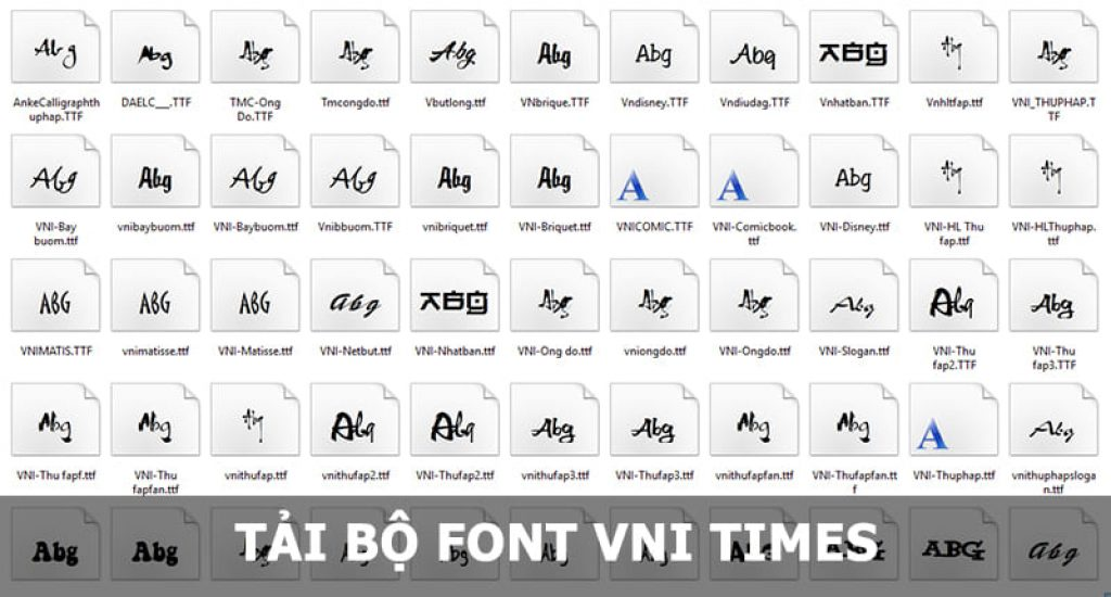 Tải bộ Font VNI Times